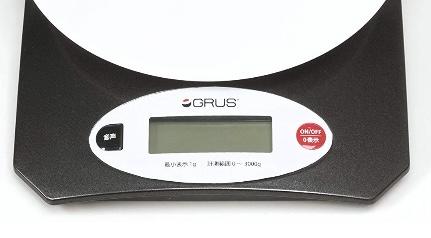 GRUS(グルス) ボイスクッキングスケールの操作部分を拡大した画像